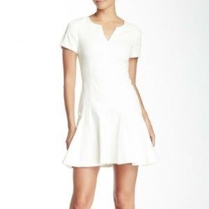 Rebecca Taylor Short Sleeve Jacquard Flippy Dress
